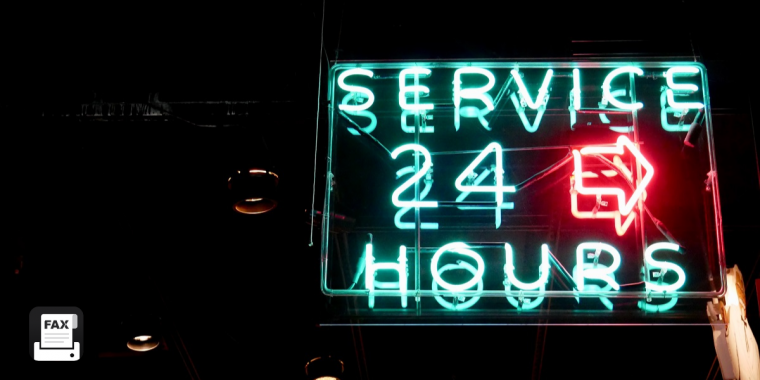 24-hour fax service