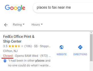 Places to fax near me