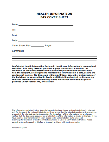Medical-HIPAA-Fax-Cover-Sheet