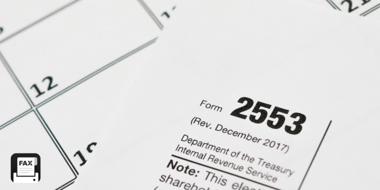 fax form 2553