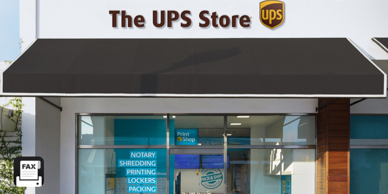 fax from ups store
